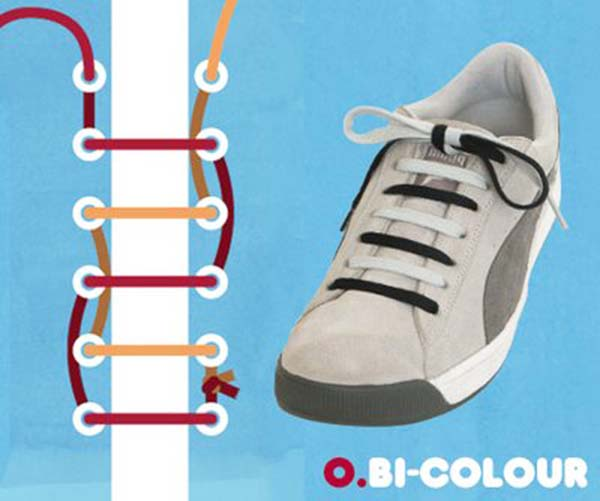 Cách thắt day giày kiểuBI – Colour