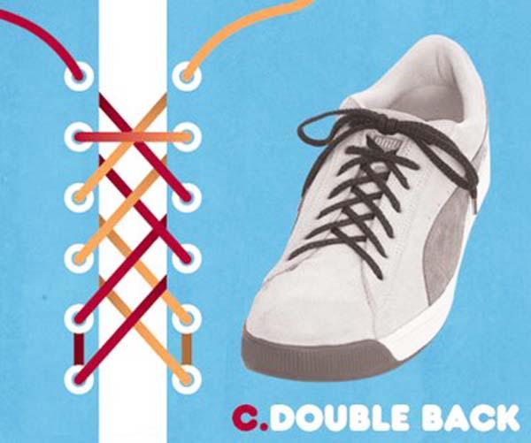 Cách thắt dây giày kiểu 2 đường chéo song song