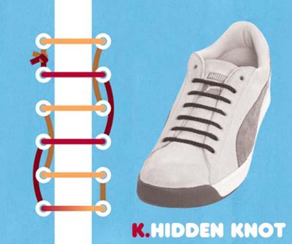 Cách thắt dây giày kiểu Hidden Knot