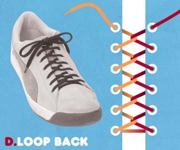 Cách thắt dây giày kiểu lặp