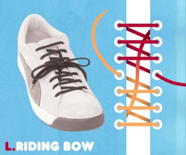 Cách thắt dây giày kiểu Riding Bow
