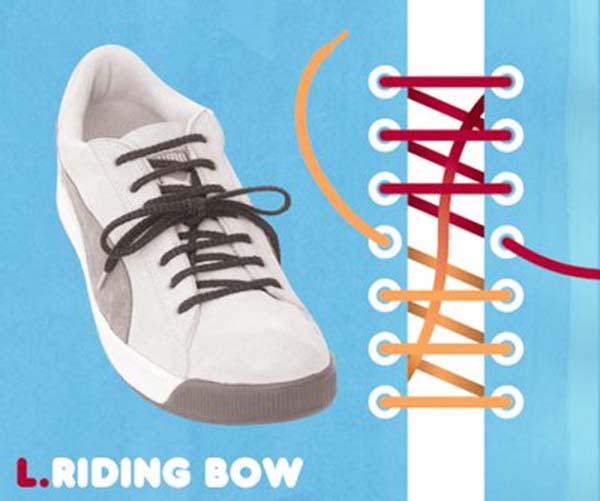 Cách thắt dây giày kiểucheckerboard