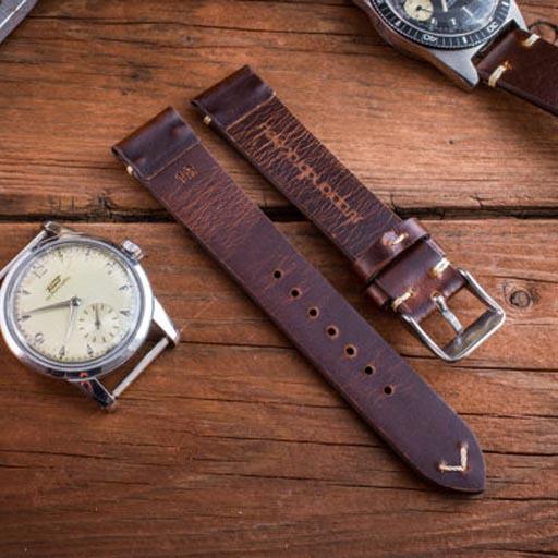 Mẫu dây đồng hồ da 005