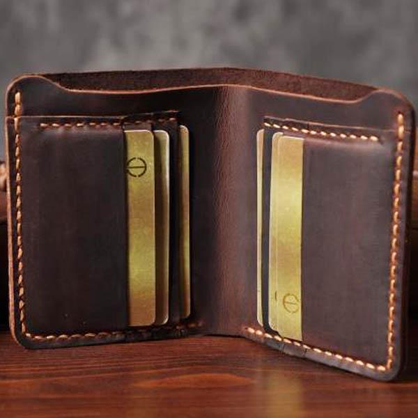 Ảnh mặt trong mẫu ví da nam handmade 001