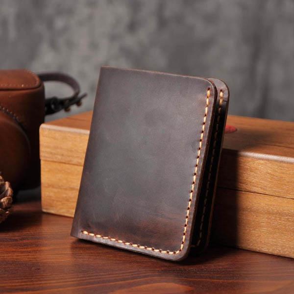 Ảnh tổng thể bên ngoài mẫu ví da nam handmade 001