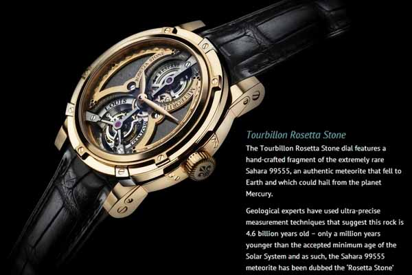 Đồng hồ đắt thứ 3 thế giới Louis Moinet Meteoris : 4.6 triệu USD