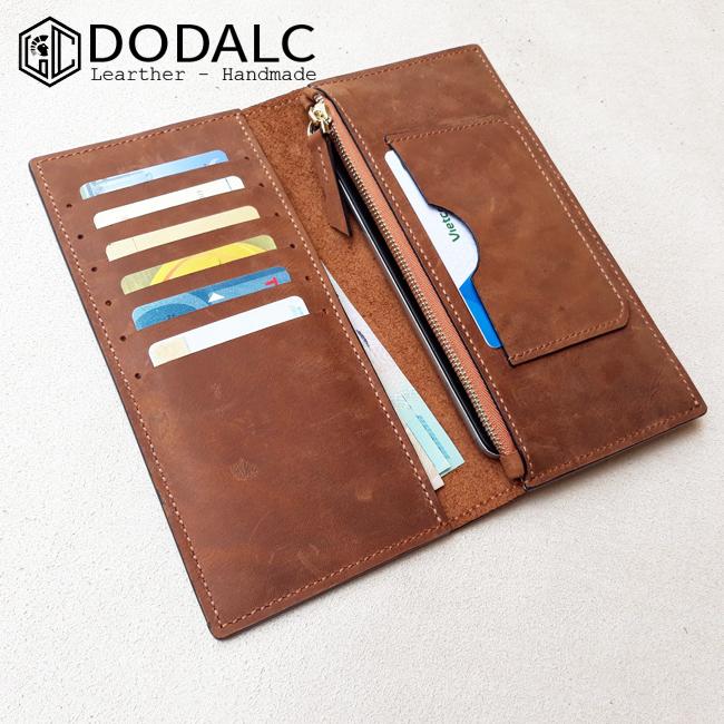 Ví da nam cầm tay Handmade 012 - Mặt trong