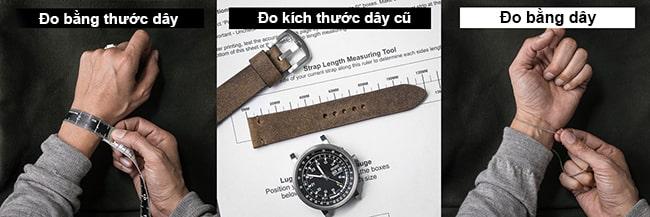 Xác định kích thước cổ tay / chiều dài dây đồng hồ của bạn