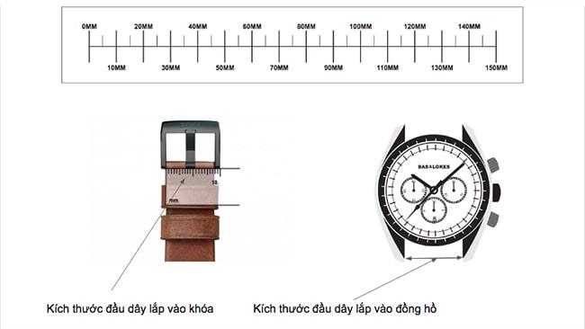 Đo chiều rộng dây đồng hồ