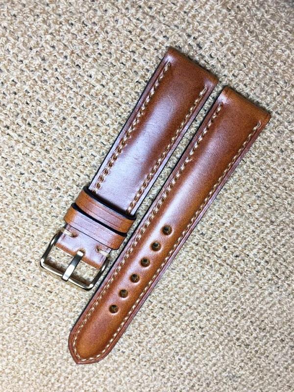 Ảnh sản phẩm dây đồng hồ da handmade 023