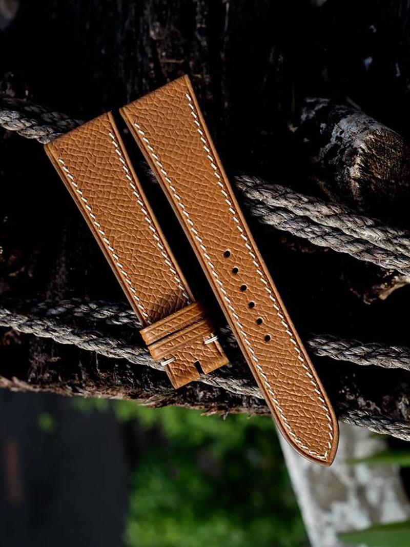 Dây da đồng hồ handmade 024