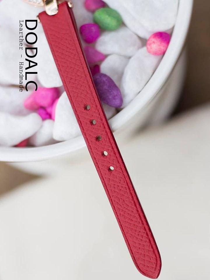 Dây da đồng hồ nữ handmade 031