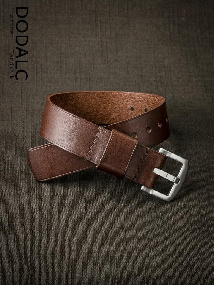 Hình ảnh sản phẩm dây đồng hồ NATO da bò handmade 027