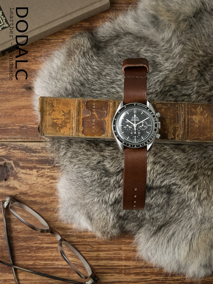 Dây đồng hồ NATO da bò handmade 027