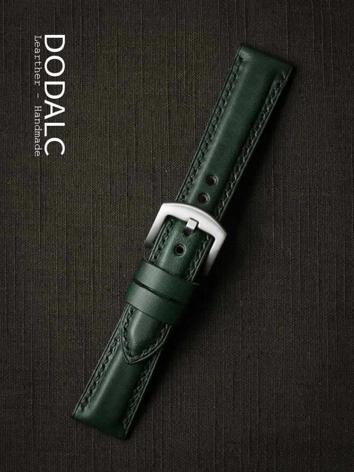 Dây đồng hồ da bò handmade 030