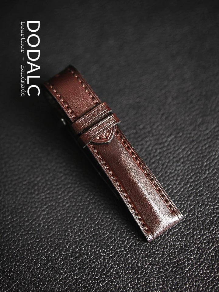 Dây đồng hồ handmade da bò 033