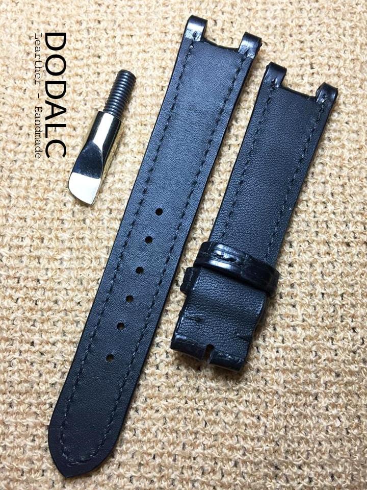 Sản phẩm dây đồng hồ handmade da cá sấu 027 - DODALC