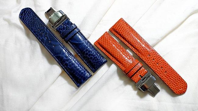 Sản phẩm dây da đồng hồ nam chất liệu da đà điểu của DODALC