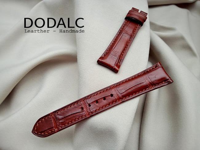 Mẫu dây đồng hồ da cá sấu cần thơ màu nâu của DODALC