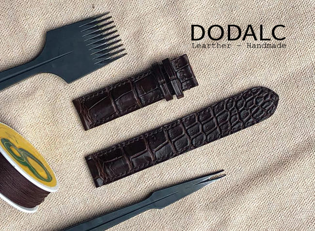 Dây đồng hồ da cá sấu cần thơ đẹp nhất - DODALC