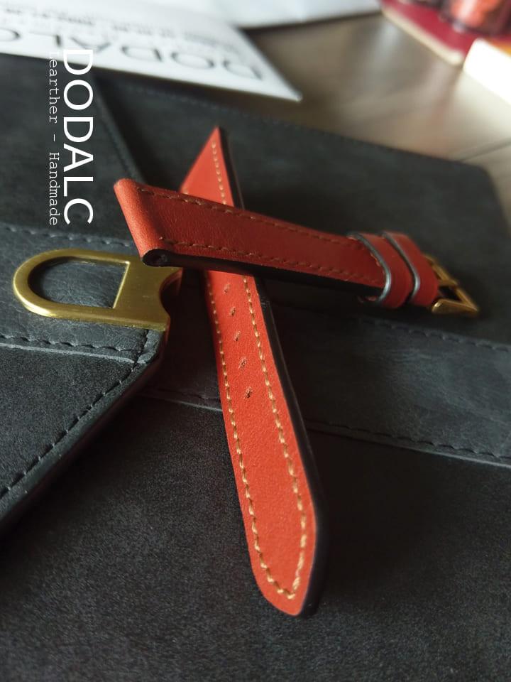 Dây da đồng hồ handmade nữ 035 chất liệu da bò xịn 100% tự nhiên