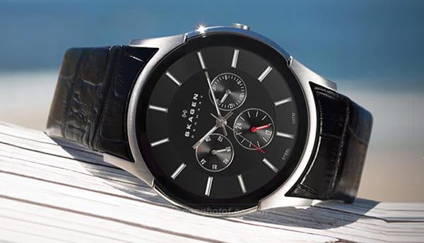 Làm dây da handmade cho đồng hồ Skagen Denmark