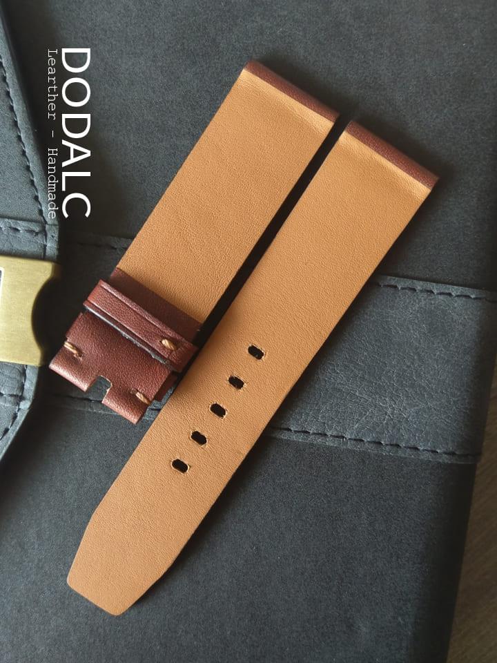 Dây đồng hồ handmade da bò 036 chất liệu da xịn 100% da tự nhiên