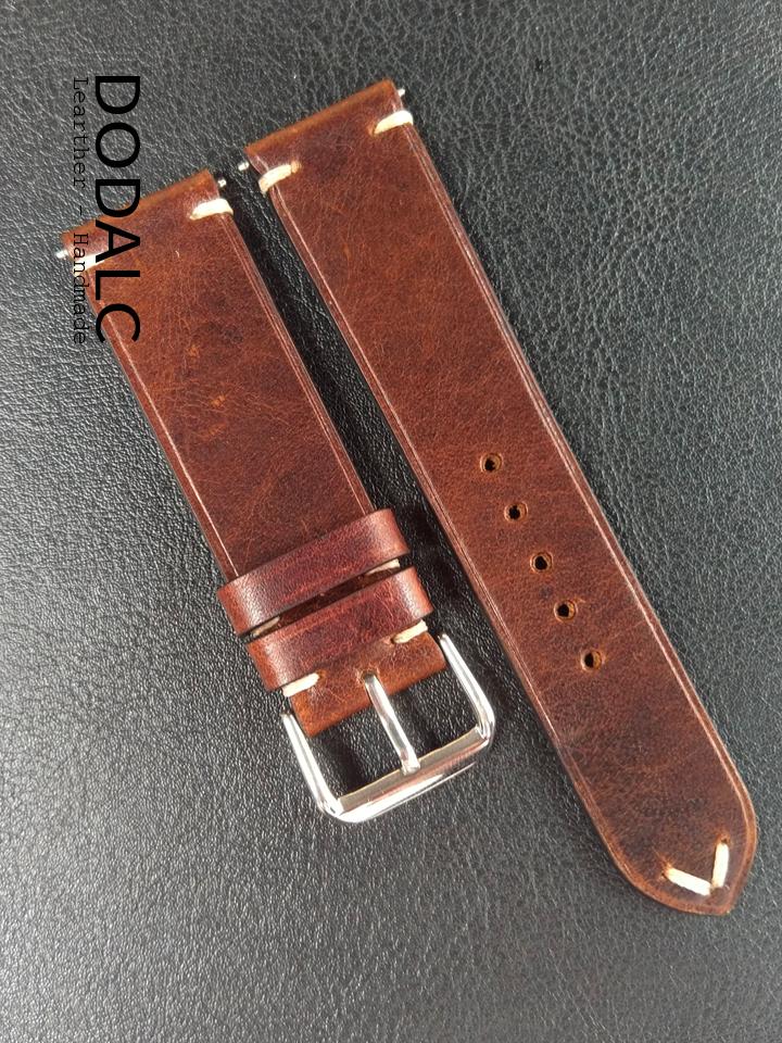 Dây đồng hồ handmade da bò 037